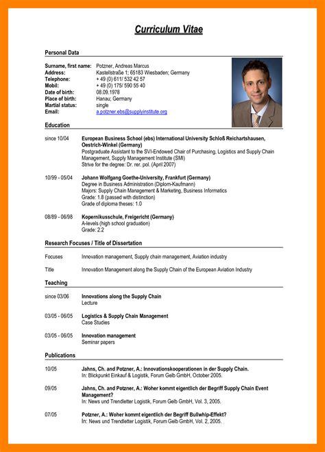 5 Sle Of Cv Pdf Edu Techation Curriculum Vitae Template Education