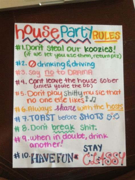 sprin break for 40 year olds 25 best ideas about house party rules on pinterest