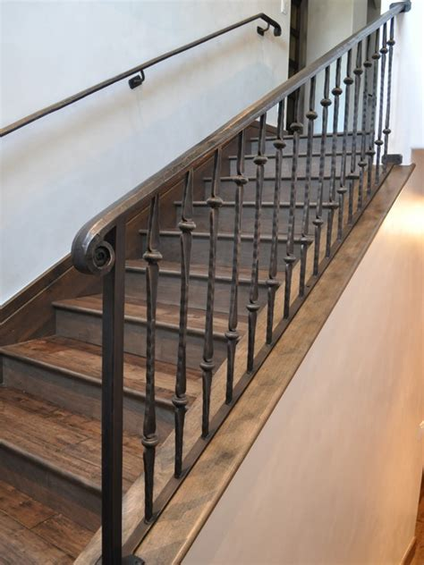 wrought iron and wood banisters spaces wrought iron spindles design pictures remodel