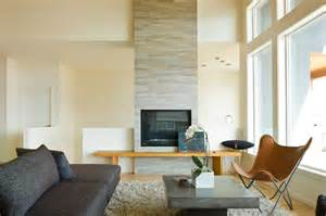 Mid Century Modern Outdoor Fireplace - fireplace tiles ideas family room traditional with baskets bench seat botanical