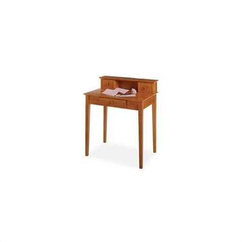 winsome solid wood writing w hutch honey computer desk ebay
