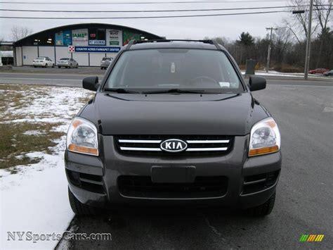 Kia Sportage 2008 Black 2008 Kia Sportage Lx V6 4x4 In Black Cherry Metallic Photo