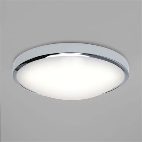 ceiling lights astro 7831 osaka led flush ceiling light polished chrome ip44