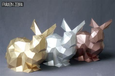 3d origami hase diy 3d origami hase osterhasen bausatz fr 228 ulein zebra