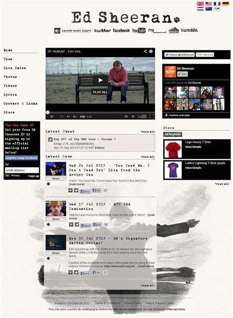 ed sheeran website how to make a music website like ed sheeran case study