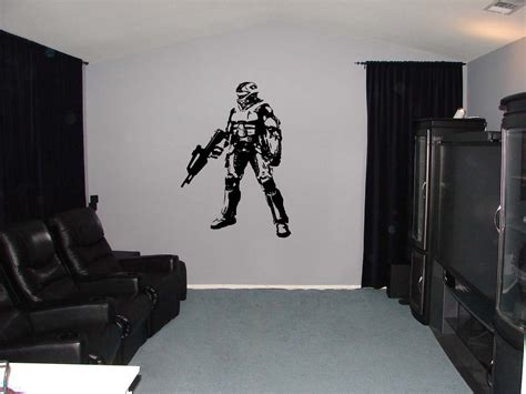 halo wall stickers halo xbox vinyl wall sticker 34h by