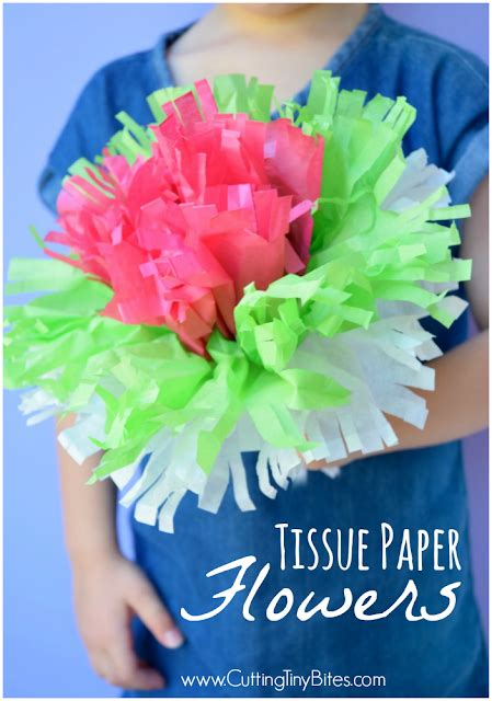 Tissue Paper Flowers With Children - tissue paper flowers what can we do with paper and glue