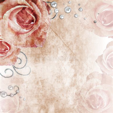 Wedding Background List by Beautiful Wedding Background With Roses And Pearls Stock