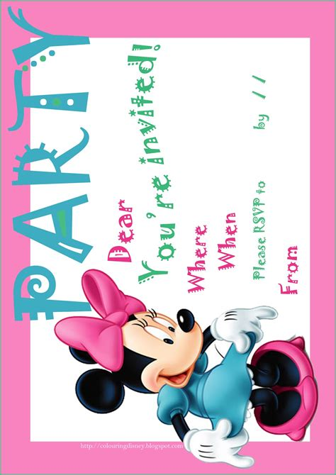 printable invitations with photo search results for printable minnie mouse invitation