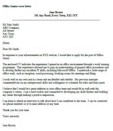 cover letter for office cover letter junior office assistant
