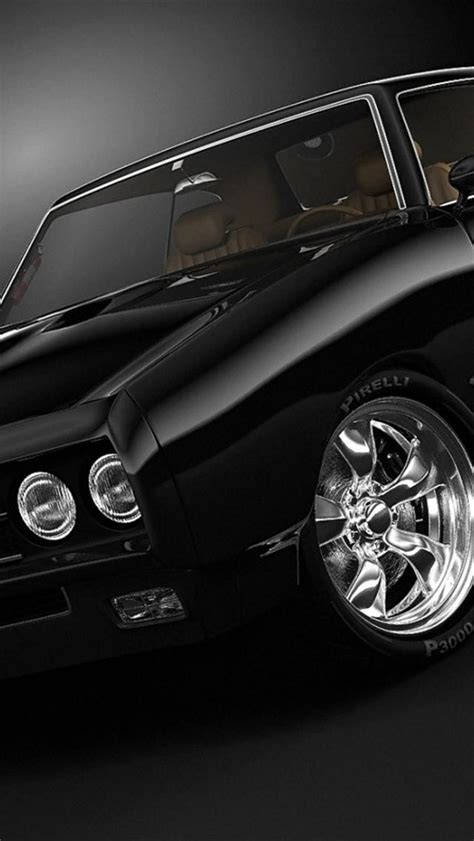 black muscle car iphone  wallpapers hd  iphone
