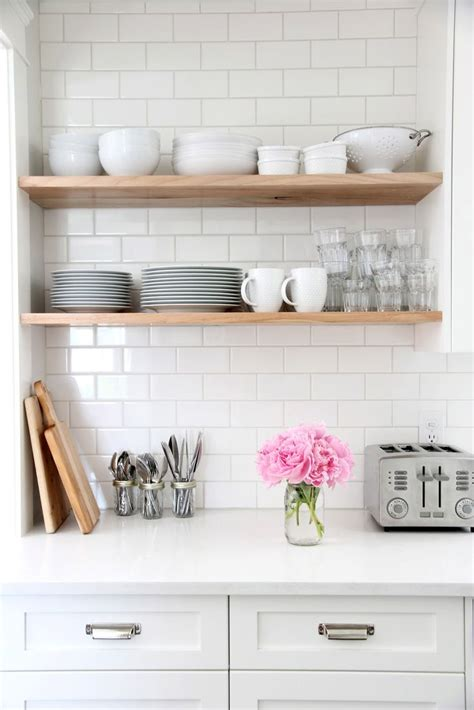 17 best ideas about open kitchen shelving on