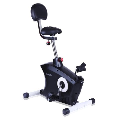 pedal machine desk serenelife slxb8 home office exercise bike
