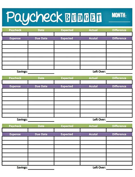 two week budget template budget worksheet printable get paid weekly and