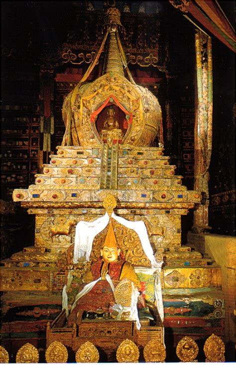 Inside Houses www patz com golden descending stupa of the 13th dalai