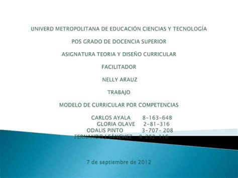 Modelo Curricular Por Competencias Modelo De Curricular Por Competencias