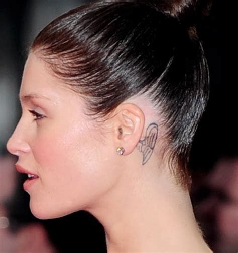 girl tattoos behind ear designs ear 2014 tattoos