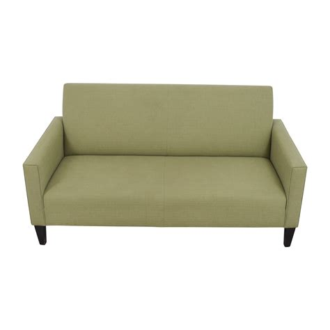 single cushion couch 63 off crate barrel crate barrel moss green single