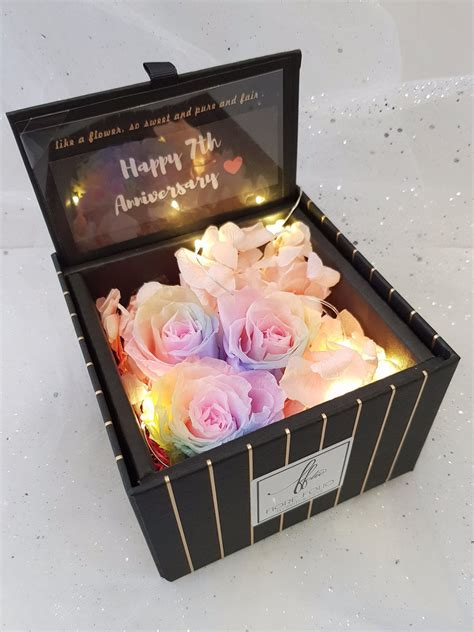 Bloom Box Big Rainbow Mesmerizing Preserved Flower enchanted tale floral box rainbow the singapore florist