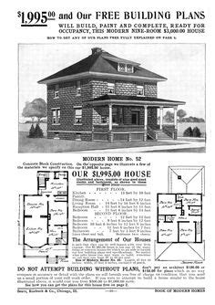 1000 Images About Sears Kit Homes On Pinterest Kit 1913 American Foursquare House Plans