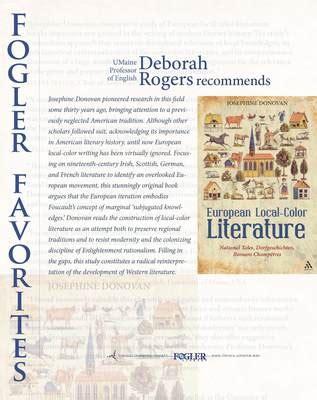 local color literature quot fogler favorites european local color literature quot by