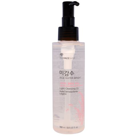 the face shop rice water bright cleansing light oil the face shop rice water bright light cleansing oil 5 0