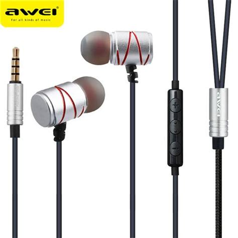 awei es 910ty in ear earphone gray