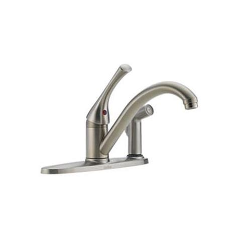 home depot delta kitchen faucets delta classic single handle kitchen faucet with spray stainless steel home depot canada ottawa