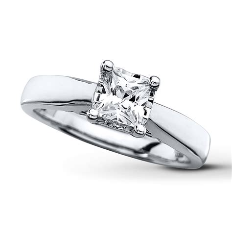 solitaire ring 3 4 carat princess cut 10k