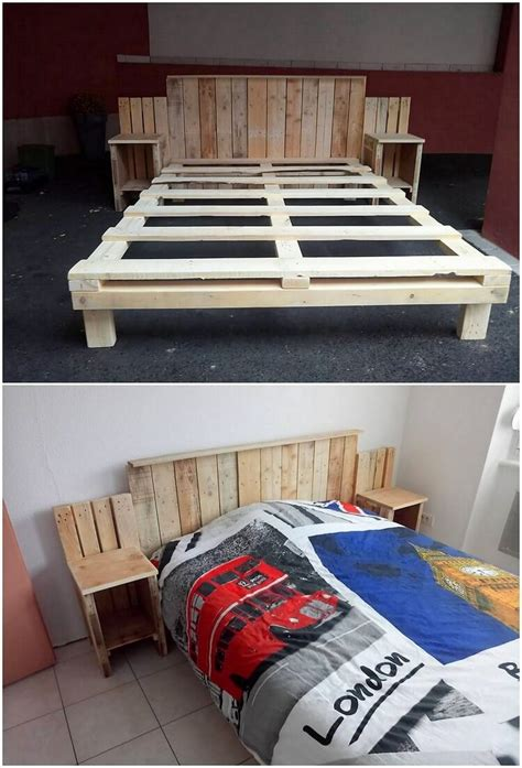 Shipping Pallet Bed Frame Awesome Diy Projects With Shipping Wooden Pallets Pallet Wood Projects