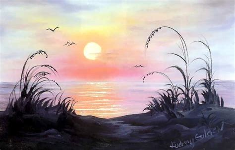 bob ross painting birds wallpaper morning picture golden
