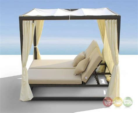 redondo patio canopy day bed cabana with dual adjustable backrests shop factory direct free shipping