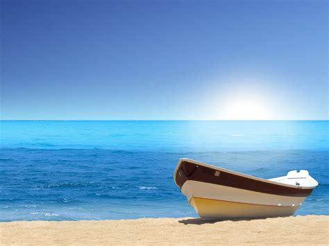 Strand Meer Bilder by Boat Sea Wallpapers Hd Wallpapers Id 10031