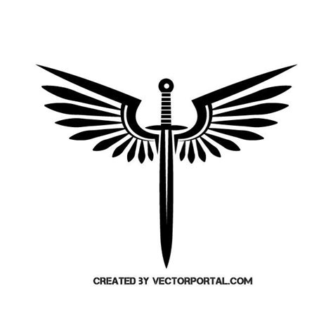 wings and a sword download at vectorportal