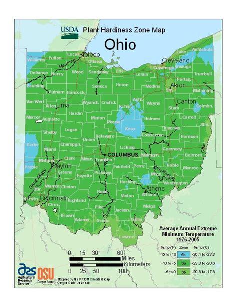 Garden Zones Ohio Ohio Plant Hardiness Zone Map Gardening