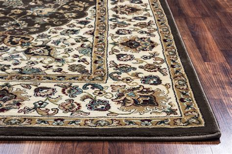 10 X 12 Brown Rug by Chateau Classic Border Area Rug In Brown Ivory 9 10 Quot X