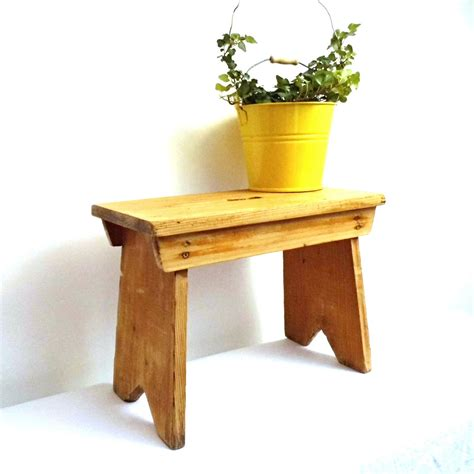 Rustic Wooden Step Stool by Vintage Wood Stepstool Foot Stool Antique Rustic