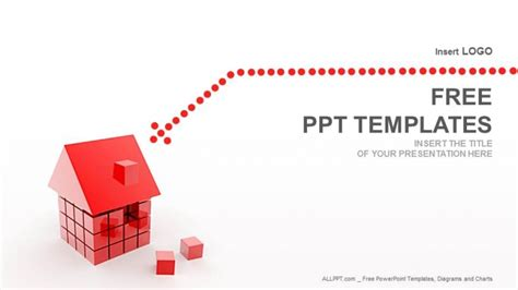 powerpoint design house cube house real estate powerpoint templates