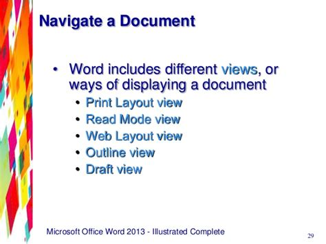 print layout view word 2013 word 2013 unit a