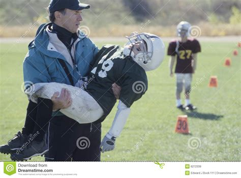 Win Driver Junior league coach with injured football player royalty