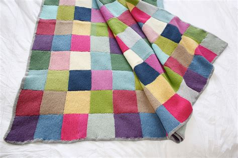 Patchwork Knitted Blanket - patchwork blanket 183 extract from winter knits made easy by