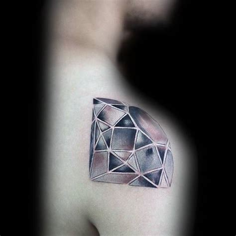 diamond tattoo on shoulder 50 small unique tattoos for men cool compact design ideas
