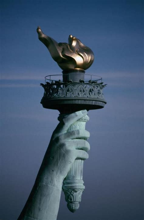 statue of liberty arm with torch the statue of liberty new york city