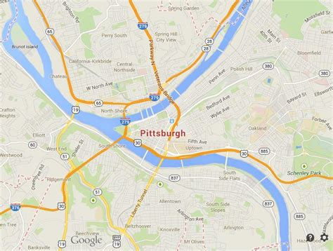map usa pittsburgh map of pittsburgh world easy guides
