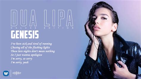 dua lipa genesis lyrics dua lipa genesis official audio releasewebvoice