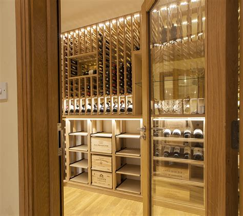 Modern Interior Design Ideas wine cellar made with european and american oak