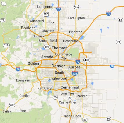 Locksmith Service Areas   Greater Denver Metro Area