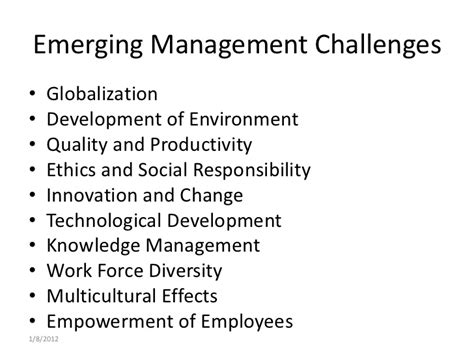knowledge management challenges emerging management issues and challenges