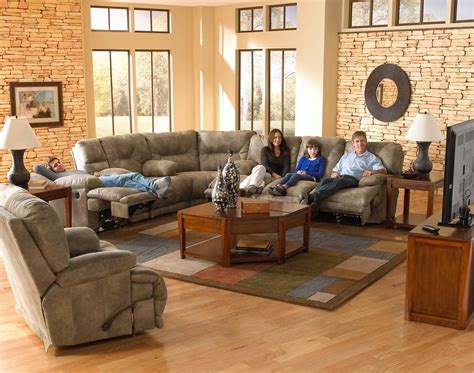 Catnapper Sectional Sofa Catnapper Voyager Lay Flat Sectional Sofa Set Cn 43845 4389 4388 Sect Set Bran At