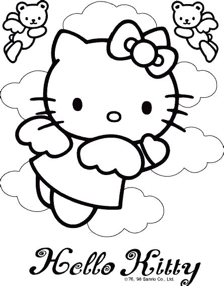 hello kitty coloring pages coloring pages to print